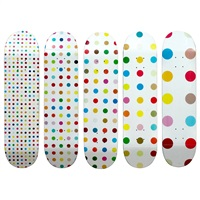 spot decks (set of 5) by damien hirst