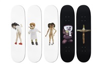 skateboards (set of 5) by jake and dinos chapman